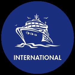 Travel Cruise Icon - International (circle)